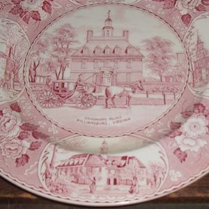 Old English Staffordshire Plate Wall Art - Governors Palace Williamsburg Virginia Plate